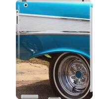 Chevrolet Blue and White Classic Bel Air Muscle Car iPad Case/Skin