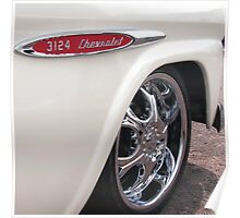 Chevrolet Classic 3124 Pick Up Truck in White Poster