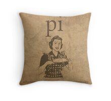 Pi Affects Overall Circumference Humor Pun Math Nerd Poster Throw Pillow