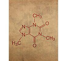 Caffeine Molecule Nerd Coffee Lover Cool Poster Photographic Print