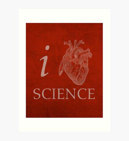 I Heart Science Poster Art Print