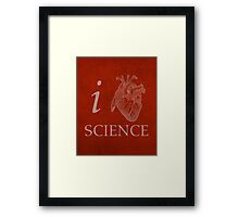 I Heart Science Poster Framed Print