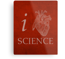 I Heart Science Poster Metal Print