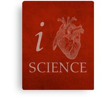 I Heart Science Poster Canvas Print