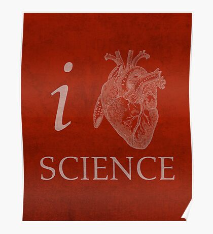 I Heart Science Poster Poster