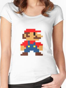 Old Super Mario bros Women's Fitted Scoop T-Shirt