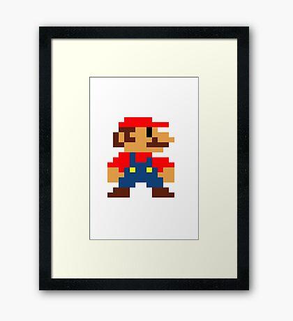 Old Super Mario bros Framed Print