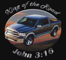 Dodge Ram Truck King of the Road Kids Tee