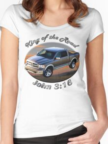 Dodge Ram Truck King of the Road Women's Fitted Scoop T-Shirt