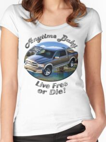 Dodge Ram Truck Anytime Baby Women's Fitted Scoop T-Shirt