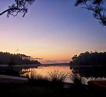 Lakeside moorings by Chris Brunton