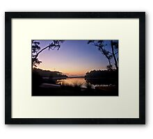 Lakeside moorings Framed Print