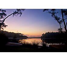 Lakeside moorings Photographic Print