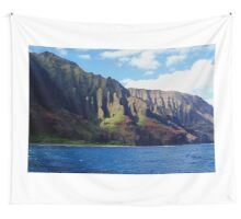 Blue Pacific and Rugged Na Pali Coastline of Kauai Hawaii Wall Tapestry