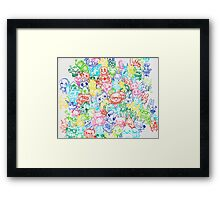 red blue yellow pink green  Framed Print
