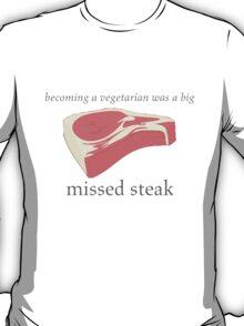Vegetarian Mistake Humor Pun Shirt T-Shirt