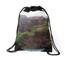 Rugged Na Pali Coast and Mountains on Kauai - Hawaii Drawstring Bag