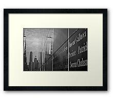 Empty Sky Memorial I Framed Print