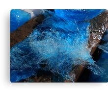 blue ice crystals Canvas Print