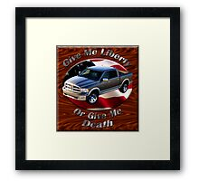 Dodge Ram Truck Give Me Liberty Framed Print