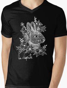 Rabbit Noir Mens V-Neck T-Shirt