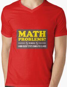 Math Problems Hotline Cool Funny Math Shirt Mens V-Neck T-Shirt