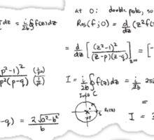 What Part Don't You Understand Math Humor Nerdy Geek Shirt Sticker