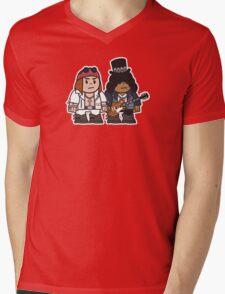 Mitesized Axl & Slash Mens V-Neck T-Shirt