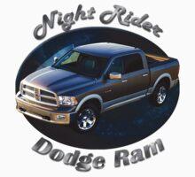 Dodge Ram Truck Night Rider Kids Tee