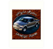 Dodge Ram Truck Night Rider Art Print