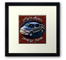 Dodge Ram Truck Night Rider Framed Print