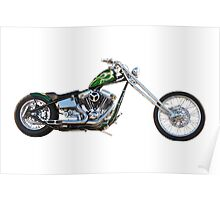 H.D. Chopper Profile on White Poster
