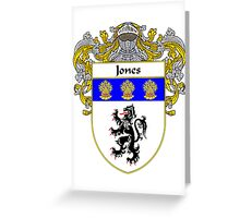 Jones Welsh Coat of Arms/Family Crest Greeting Card