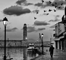 Early evening walk in the old port by Spyridon