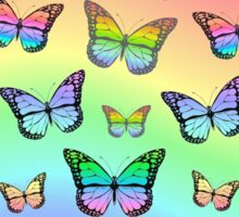 Rainbow Butterflies Sticker