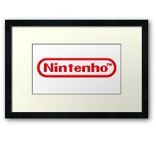 Nintenho Parody Logo Video Gamer Framed Print