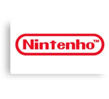 Nintenho Parody Logo Video Gamer Canvas Print
