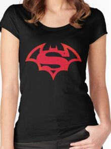 The World's Finest (Red) Women's Fitted Scoop T-Shirt