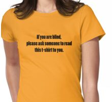 Please ask for assistance Womens Fitted T-Shirt