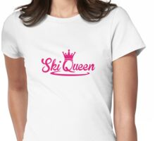 Ski Queen Womens Fitted T-Shirt