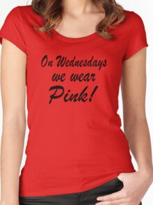 Pink - 'Mean Girls' inspired design Women's Fitted Scoop T-Shirt