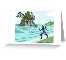 Elder God verses EVA Greeting Card
