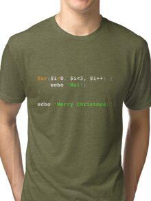 PHP Ho! Ho! Ho! Merry Christmas! Tri-blend T-Shirt