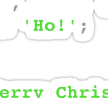 PHP Ho! Ho! Ho! Merry Christmas! Sticker