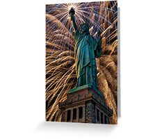 Liberty Fireworks Greeting Card