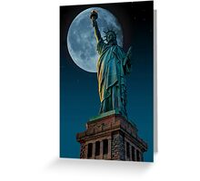 Liberty Moon Greeting Card