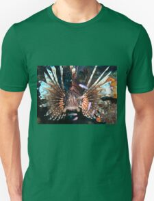 Caribbean Lion Fish guarding the Coral Reef Unisex T-Shirt