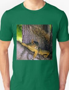 Animal - Squirrel watching from the Tree Unisex T-Shirt