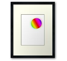 RainbowBubble T-shirt Framed Print