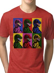 Dinosaur Pop Art Tri-blend T-Shirt